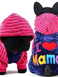 cheap -dog clothes i love papa and mama winter pet dog clothes small medium dog coats jackets for chihuahua poodle (m, i love mama)