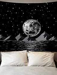 cheap -Wall Tapestry Art Decor Blanket Curtain Picnic Tablecloth Hanging Home Bedroom Living Room Dorm Decoration Polyester Moon Mountains Sea Stars