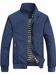 cheap -men's slim fit lightweight softshell flight bomber jacket coat (large, blue)