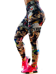 cheap -Women's High Waist Yoga Pants Leggings Tummy Control Butt Lift Quick Dry Rainbow Spandex Fitness Gym Workout Running Sports Activewear High Elasticity Skinny