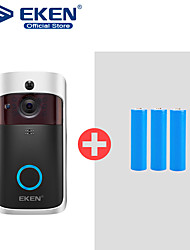 رخيصةأون -eken v5 smart wifi video doorbell camera visual intercom with chime night vision ip door bell wireless home security camera