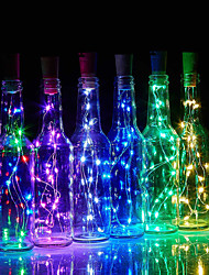 cheap -LED Bottle String Lights Cork Shaped 30pcs 12pcs 10pcs LED Night Starry Light 2m 20LED Copper Wire Stopper Wine Bottle Lamp Wedding Party Christmas Decoration