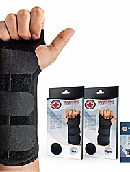 cheap -doctor developed carpal tunnel wrist brace night & wrist support & sleep brace [single] (with splint) & doctor written handbook - fully adjustable to fit any hand (right)