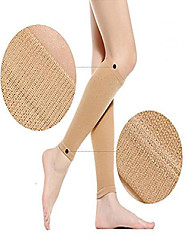 cheap -thin leg calves shaper burn fat socks compression stovepipe socks leg arm warmers calves sleeves (skin)