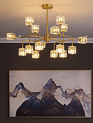 cheap -16 Bulbs 83 cm WIFI Control Chandelier Metal Glass Sputnik Industrial Painted Finishes Contemporary Chic & Modern 110-120V 220-240V