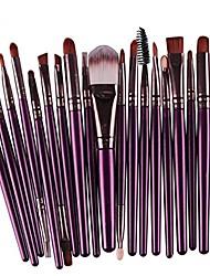 cheap -creazy 20 pcs makeup brush set tools make-up toiletry kit wool make up brush set & #40;purple& #41;