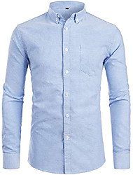cheap -men's hipster casual slim fit long sleeve button down oxford shirts with chest pocket z111 light blue medium