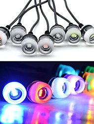 cheap -10pcs New Car styling 18mm 5630 LED DRL Eagle Eye Daytime Runing Lights Warning Fog lights with Parking signal