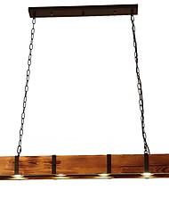 cheap -100 cm Single Design Pendant Light Wood Vintage 110-120V 220-240V