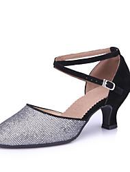 cheap -Women's Modern Shoes Heel Cuban Heel Black Purple Fuchsia