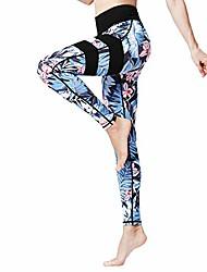 cheap -women's capri yoga pants, air breathing holes 3/4 workout capri leggings with side pockets for yoga, running