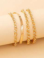 cheap -Leg Chain Classic Vintage Punk Women's Body Jewelry For Gift Holiday Link / Chain Alloy Lucky Gold Silver 4pcs