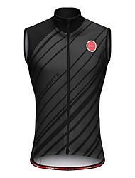 cheap -Men's Sleeveless Cycling Jersey Winter Black Bike Fleece Lining Sports Clothing Apparel