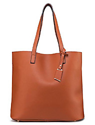 cheap -pu leather handbag designer pure, color purse large capacity shoulder bag, classical tote bags (brown2)