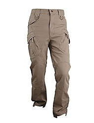 cheap -Hiking Cargo Pants Winter Outdoor Wear Resistance Scratch Resistant Pants Bottoms IX7 Khaki (pure cotton stretch fabric) IX7 gray green (pure cotton stretch fabric) IX7 soot (pure cotton stretch