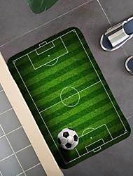 cheap -1pc Modern Fotball Bath Mats Rugs Football Floor Mat Flannel Anti-skid Floor Mat
