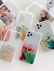 cheap -Marble Stand Case For Apple iPhone 12 Pro Max 11 SE2020 iPhone 12Mini Fashion Protective Case Decent Mobile Phone Case Ultra-thin  Pattern Back Cover Geometric iPhone Case Pattern Marble TPU