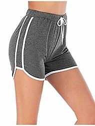 cheap -women's fitness running yoga shorts gym workout sport athletic pants (gray,xl)