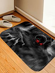 cheap -Halloween Red Eye Demon Digital Printing Floor Mat Flowers Kitten Girl Modern Bath Mats Nonwoven / Memory Foam Novelty Bathroom