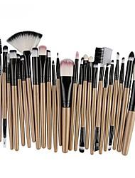 cheap -creazy 25pcs cosmetic makeup brush blusher eye shadow brushes set kit (yellow)