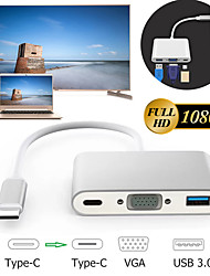 cheap -Type C to VGA USB 3.0 USB-C HDMI Converter Dock Google Projector Adapter HUB
