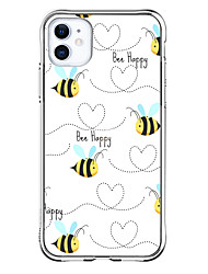 cheap -Bee Graphic Design Case For Apple iPhone 12 iPhone 12 Mini iPhone 12 Pro Max Unique Design Shockproof Clear Back Cover TPU