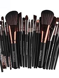 cheap -big sale! professional travel 22pcs cosmetic makeup brush blusher eye shadow brushes set kits & #40;black& #41;