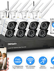 cheap -DIDSeth 8CH 2MP Wireless NVR Kit CCTV System 8PCS 1080P Outdoor AI Camera IR Cut Wifi IP CamSecurity Video Surveillance Kit