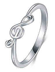 cheap -925 sterling silver ring, highpolish music note resistant comfort fit wedding band ring size 8