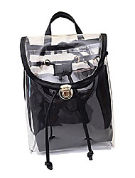 cheap -women's 2 in 1 clear fashion backpack transparent travel beach shoulder handbag purse (rose pink)