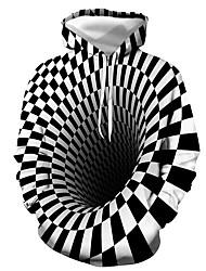 cheap -Men's Pullover Hoodie Sweatshirt 3D Graphic Hooded Daily Casual Basic Hoodies Sweatshirts  Long Sleeve Black