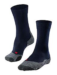 cheap -Men's Hiking Socks Ski Socks Winter Outdoor Breathable Moisture Wicking Anti Blister Wool Black Dark Gray Gray for Camping / Hiking Fishing Climbing