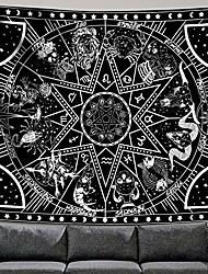 "cheap -12 constellation tapestry star sun tarot tapestry black and white hippy celestialbohemian home decor & #40;60"" x 80""& #41;"