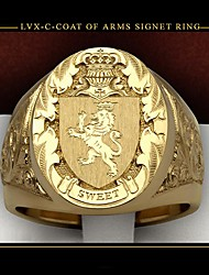 cheap -Men Women Ring 1pc Gold Copper Gold Plated Round Fashion Gift Date Jewelry Classic Lion