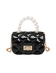 cheap -Women's Bags PVC Top Handle Bag Pearls Chain Handbags Event / Party Daily White Black Red Yellow