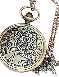 cheap -antique pocket watch vintage bronze doctor who pocket watch retro quartz pocket watch arabic numerals pocket watch with chain for men