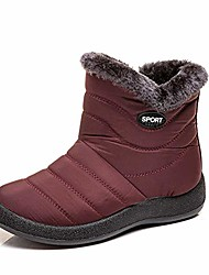 cheap -snow boots for women, warm ankle bootie waterproof outdoor snow anit-slip boots slip on lined winter shoes for ladies red 6