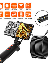 cheap -8mm dual Lens Handheld Wireless Endoscope Camera IP68 WATERPROOF WIRELESS ENDOSCOPE CHECK 2.0 MP High Definition Snake Camera Android ios 10m hard wire