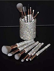 cheap -bling makeup brush set – premium glitter synthetic professional face cosmetics blending liquid foundation powder concealer eye shadows make up beauty tool with pouch bag kit