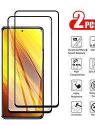 cheap -XiaomiScreen ProtectorXiaomi Poco X3 NFC High Definition (HD) Front Screen Protector 2 pcs Tempered Glass