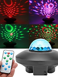 cheap -Colorful Starry Sky Rotation Projector Light LED Bluetooth Sound Remote Control Music Player Night Lamp Projection Night Light