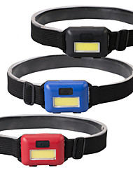 cheap -Mini COB headlamp LED Light Headlamps 100 lm LED LED Emitters 3 Mode Portable Easy Carrying Camping / Hiking / Caving Everyday Use Cycling / Bike Outdoor Black Red Blue