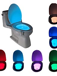 cheap -LED Toilet Night Light Motion Activated Motion Sensor with 8-Color Changing Waterproof Washroom for Adult Kid Safety Toilet Seat Light