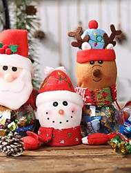 cheap -Christmas Decorations Hanging Hand Candy Cans Children Gift Boxes Elderly Snowman Storage Jars