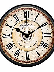 cheap -12 inch metal black wall clock european style retro vintage clock non - ticking whisper quiet battery operated with hd glass easy to read for indoor decor 30cm*30cm