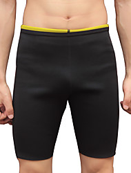 cheap -Slimmer Hot Neoprene Shorts Sports Neoprene Polyster Yoga Gym Workout Pilates Stretchy Weight Loss Tummy Fat Burner Hot Sweat For Men