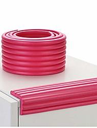 cheap -children's corner protector, cabinet edging strip self-adhesive crash pad, anti-bang soft cover rubber strip 5 m red