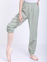 cheap -Ballet Pants Ruching Gore Solid Women's Training Performance High Nylon