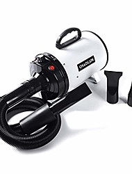 cheap -dog dryer high velocity professional pet dog blow dryer 3.2hp - dog hair grooming dryer with heater, stepless adjustable speed, 3 different nozzles, a comb and a shower massage glove, white