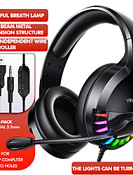 cheap -LITBest Q2 Gaming Headset  Surround Sound USB 3.5mm Wired RGB Light Game Headphones with Microphone for Tablet PC
